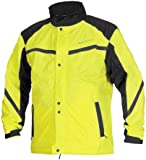 Firstgear Sierra Rain Jacket - Large/DayGlo/Black