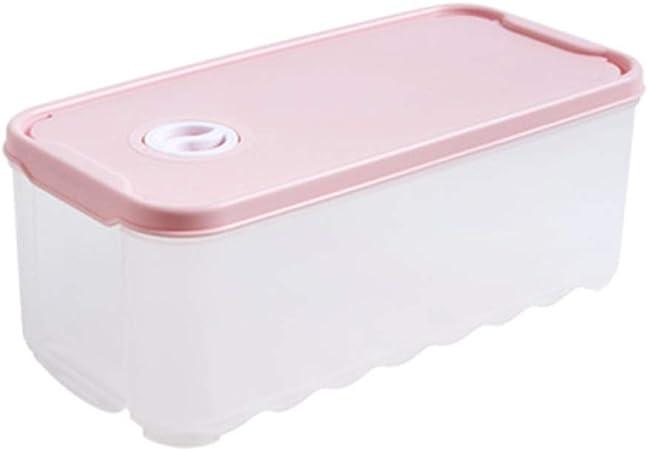 Envase De Alimentos con Tapa, Caja De Alimentos, Aprobado por La FDA, Material Plástico Libre De BPA, Reutilizable, Seguro para Usar En Refrigeradores Y Microondas,Pink: Amazon.es: Hogar