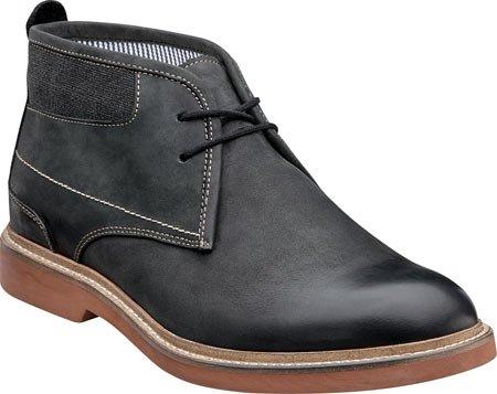 Flors Mens Bucktown Chukka Boots Svart Galen Häst Läder / Kol Canvas