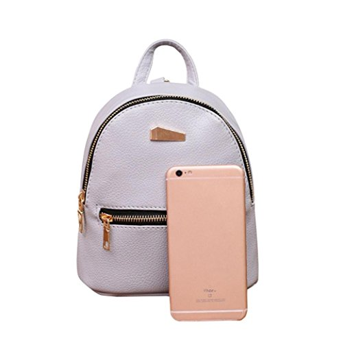 Satchel College Leather Gray Black Women School Backpacks Travel Nevera Bags Clearance Rucksack Shoulder wYHx8S