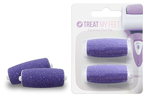 Treat My Feet Callus Remover Foot File Replacement Rollers (Lavender)
