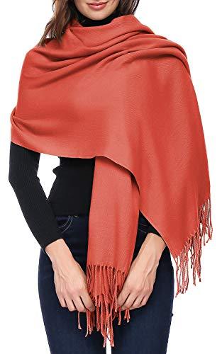 - Womens Thick Soft Cashmere Wool Pashmina Shawl Wrap Scarf - Aone Warm Stole(Maple Leaf)