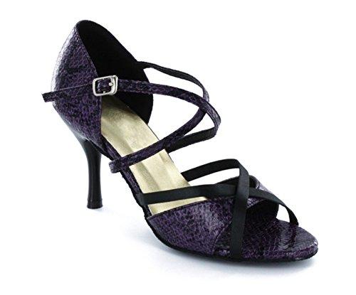 Tda Moda Para Mujer Vintage Style Flower Performance Zapatos De Baile 3 1 / 6heel Deep Purple