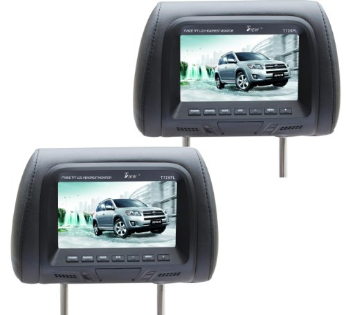 Tview T726PL-BK 7-Inch Car Headrest Monitor (Black)