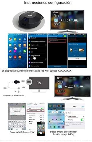 EZCAST Miracast HDMI Compatible DLNA WiFi Airplay Windows iOS ...