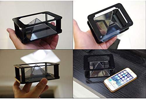 Soulitem proiettore 3D olografico piramide quattro dimensioni immagine display portatile per cellulare