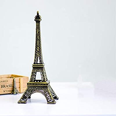 Eiffel Tower Paris France Metal Stand Statue Model For Home Decor Or Wedding Theme 10 Inches