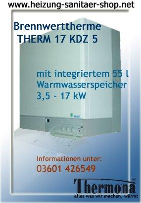 Gas Calentador Caldera combinada de condensación calentador Gas 17 kdz 5 para gas natural S