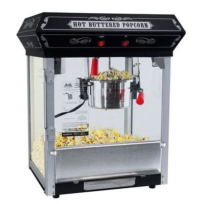 FunTime FT421CB Carnival Style 4-Ounce Hot Oil Popcorn Machine, Black by Funtime