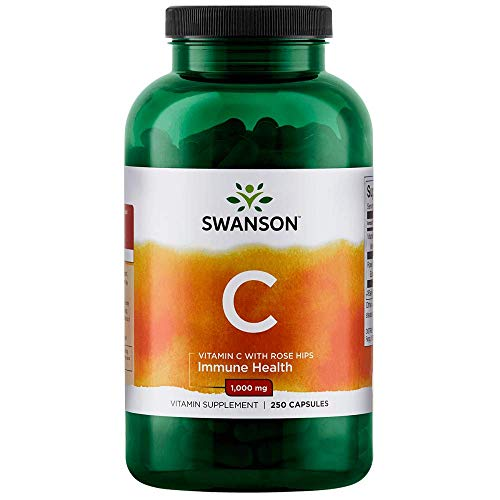 Swanson Vitamin C with Rose Hips 1,000 mg 250 Caps