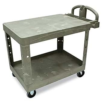 Rubbermaid Commercial HD Utility Cart, Beige, FG452500BEIG