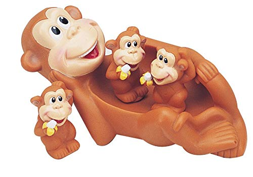Monkey Family Kids Bath Toy Set for Toddlers Fun Water Toys