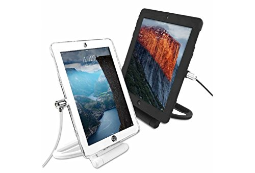 Maclocks iPadAirRSBB Locking Security Cover & Rotating Stand Bundle for iPad Air/Air 2, Security Cable Lock (Black)