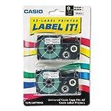 Casio XR-9WEB2S Wireless Printer Tape Cassette, Blue on White