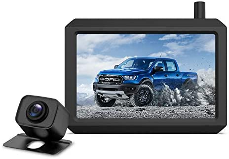 Upgrade 720P Digital Wireless Backup Camera,2 Cameras Channel Support, AUTO-VOX W7PRO 5″ TFT Monitors and IP68 Waterproof Wireless Rear View Camera for Car,Trucks,Trailer