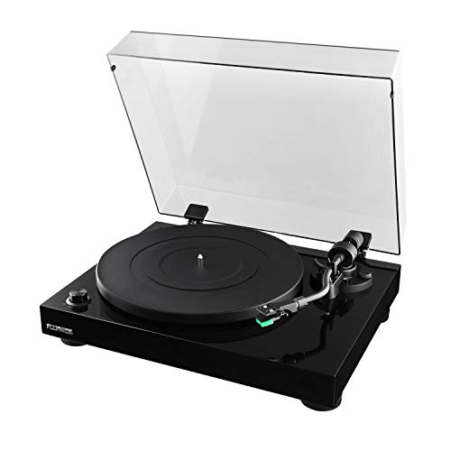 - Fluance Elite High Fidelity Vinyl Turntable Record Player with Audio Technica AT95E Cartridge, Belt Drive, Built-in Preamp, Adjustable Counterweight, Solid Wood Plinth - Piano Black (RT81T)