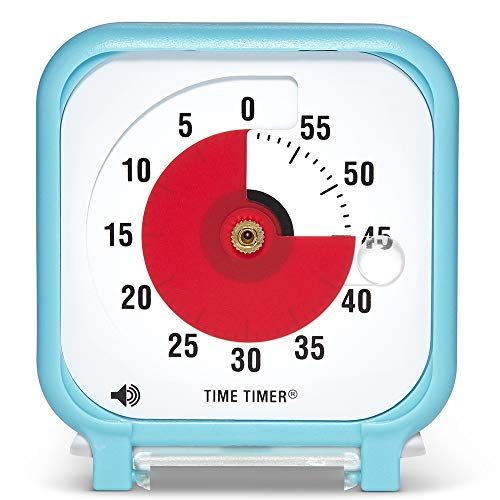 Time Timer Original 3 inch; 60 Minute Visual Timer - Classroom Or Meeting Countdown Clock for Kids and Adults (Sky Blue)