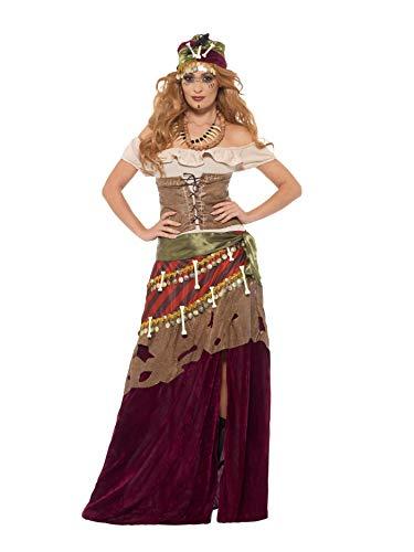 Smiffys Women's Deluxe Voodoo Priestess Costume, Multi, Large
