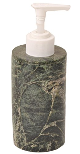 CraftsOfEgypt Green Marble Liquid Hand Soap Dispenser – Accessory for Bathroom and Kitchen Countertop – Quality Polished Marble with Rust-Proof Plastic Pump
