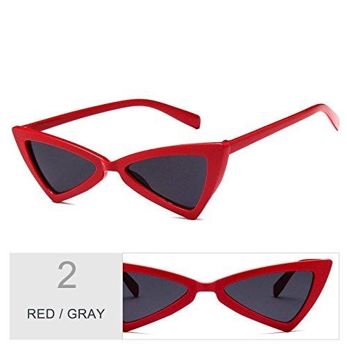 Uv400 De Señor Sol RED De De Gafas Gafas Negro Vintage Gris GRAY Ojo Mujer Sol Del Gafas Mujeres Blanco De Atrás Gato TIANLIANG04 6qaf0xw1