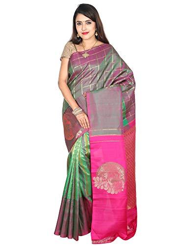 (Indian Silks Kanchipuram Wedding Handloom Pure Silk Saree )