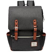 Laptop Computer Bags,TechCode Casual Vintage Backpack Canvas Laptop Computer Bag College School Backpack Shoulders Bag Outdoor Weekend Travel Daypack