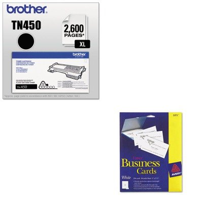 KITAVE5371BRTTN450 - Value Kit - Avery Two-Side Printable Business Cards (AVE5371) and Brother TN450 TN-450 High-Yield Toner (BRTTN450)