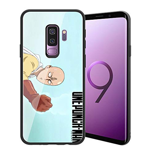 ((for Galaxy S9 Plus) Soft Silicone Bumper + Anti-Scratch Tempered Glass Phone Case, ACG One-Punch Man Designed 069 for Teens and Adults)