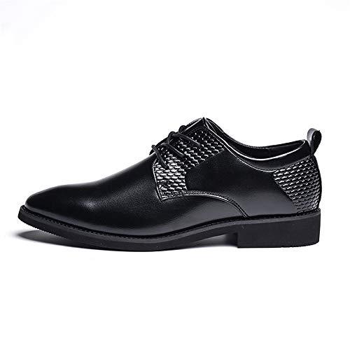 Jiuyue uomo Dimensione da punta Reparto Oxford shoes Uomo camminare Top formali 2018 Nero Scarpe scarpe 42 Pelle uomo casa Color in traspirante da con Low vivere rotonda e compagnia EU Nero per a rwrzCq8