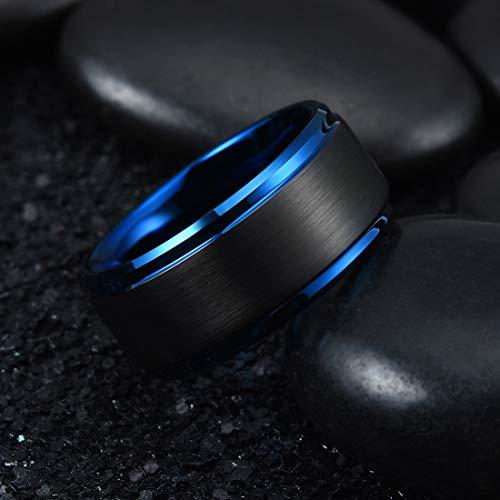 Buy black mens ring 10mm
