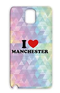 Cities Countries I Love Manchester TPU Protective Hard Case For Sumsang Galaxy Note 3 Red I Love Manchester