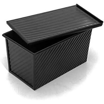 Amazon Com Pullman Bread Loaf Pan W Lid Black Toast Bread