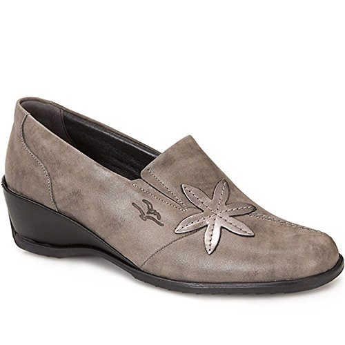 Leather Fly Slip Star On Flot with Design Multi Grey 905 Leaf 123 qqrwER57