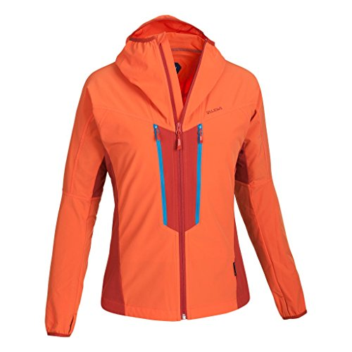 SALEWA Jacke Deva DST W Jacket - Soft shell para mujer Naranja (Tigerlily/1730/8240)