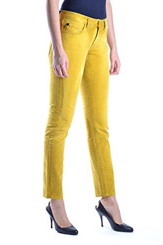 Just Cavalli Damen MCBI170005O Gelb Baumwolle Jeans