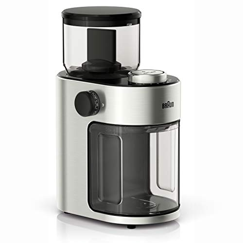 Braun KG7070 Burr Grinder, 7.4 x 5.2 x 10.6 inches, Stainless Steel