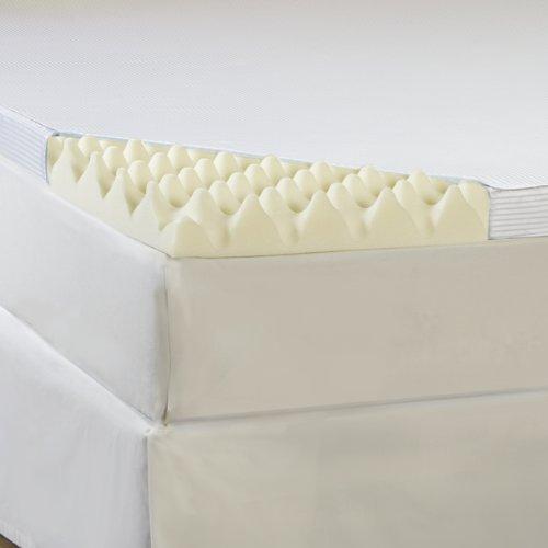 Hotel Comfort 3-Inch Big Comfort Memory Foam Topper with Polysilk Cover, Full (Memory Nasa Foam)