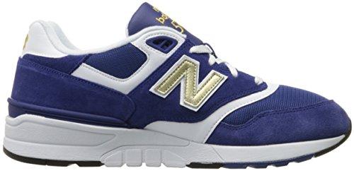 Nieuw Evenwicht Heren 597 Lifestyle Fashion Sneaker Navy / Wit