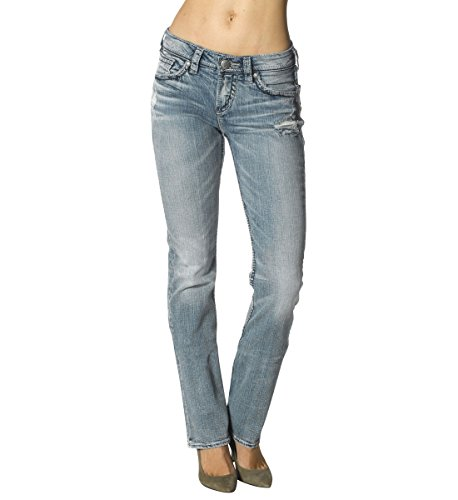Silver Jeans Women's Suki High-Rise Baby Bootcut Jean, Indigo, 31x31 by Silver Jeans Co.