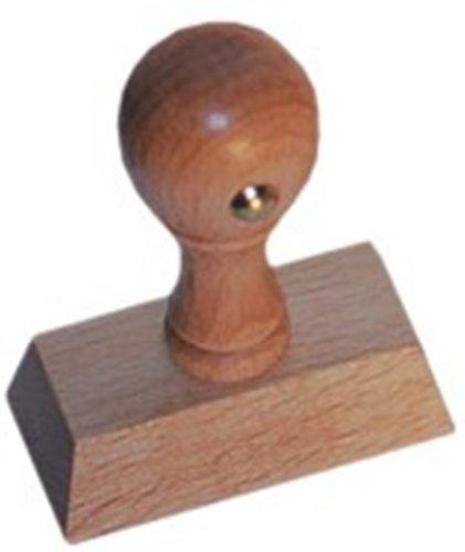Holz-Bürostempel mit Textplatte 4. Zeilig im Set mit Stempelkisse und Stempelfarbe
