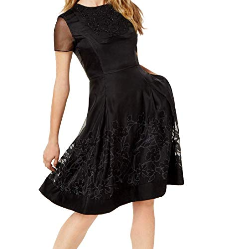 Sachin & Babi Embellished Illusion Dress (Black, 4) for sale  Delivered anywhere in USA