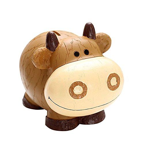 Baidecor Resin Cow Money Box Piggy Bank