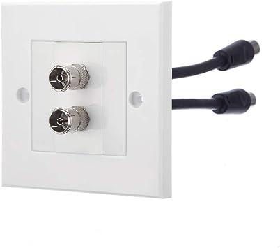 Repuesto de ordenador doble antena de TV placa frontal/salida ...