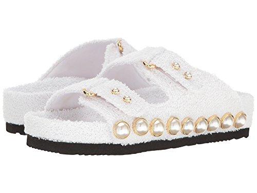 負担かんたんタイピスト[シューコンマボニー] レディース サンダル Jewel Ornament Cotton Slide Sandal [並行輸入品]