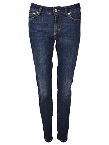 Dondup Jeans P990ds112dr29tdhi800 Blu Donna Cotone TTvdqrw