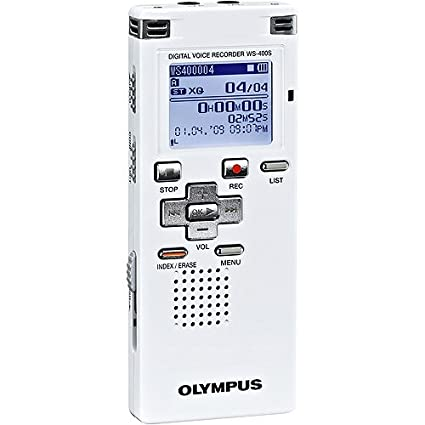 amazon com olympus ws 400 s digital recorder white electronics rh amazon com  olympus digital voice recorder ws-400s manual