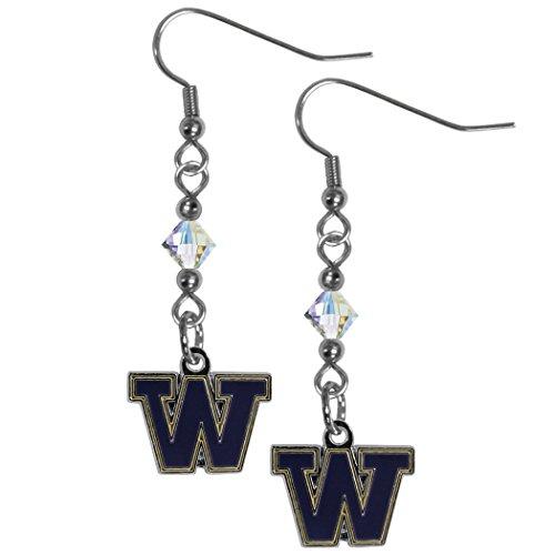 - Siskiyou NCAA Washington Huskies Crystal Dangle Earrings