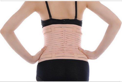 EQMUMBABY Körper Gestaltung Gürtel elastisch Atmungsaktiv Bauchband Bauchgürtel Nach Geburt Re-Shaping Pelvis Correction Slimming Belt abnehmen Gürtel Schlankheits-Gürtel - Gr. S