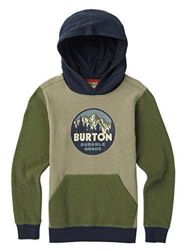 Burton Boys Retro Mountain Pullover Hoodie, Dusty Olive, X-Large ()