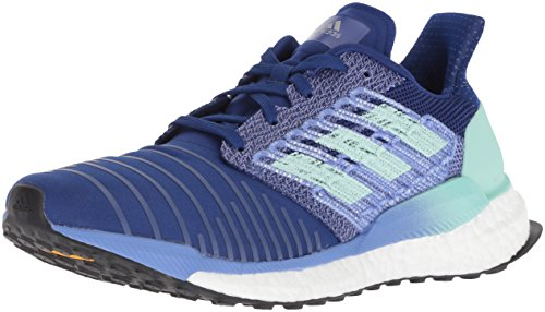 (adidas Women's Solar Boost Running Shoe, Mystery Ink/Clear Mint/Real Lilac, 8.5 M US)